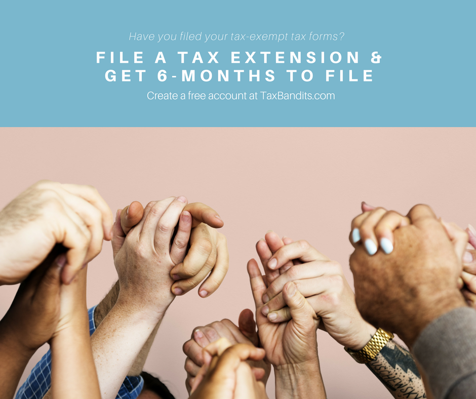 Exempt organizations can get extra time to file with IRS Form 8868 using TaxBandits
