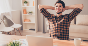 Relaxed Small Business Owner that has learned to avoid stress and burnout