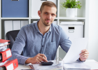 Payroll manager handling tax compliance needs for their clients