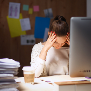 Stressed tax payer needing more time to file their personal taxes