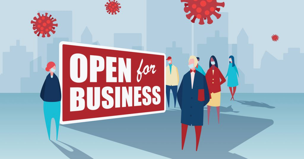 small business reopening